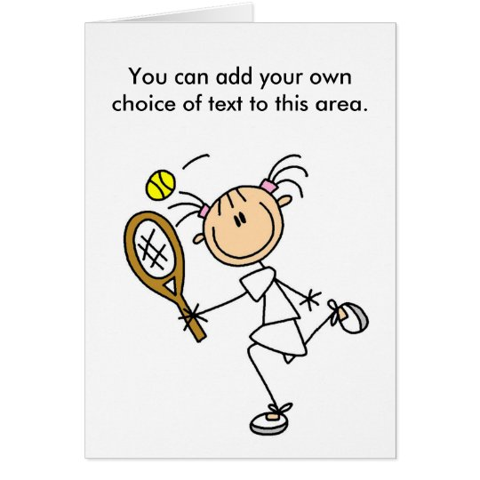 Girl Tennis Player Customisable Card
