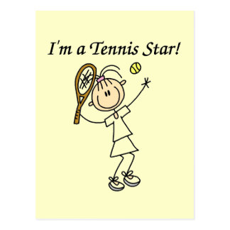 Girl Tennis Star T-shirts and Gifts Postcard