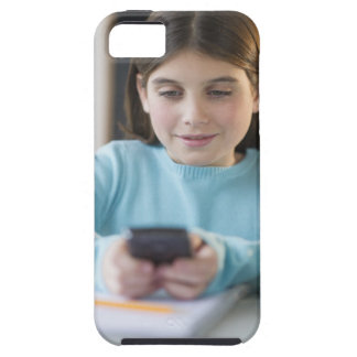 Girl texting in classroom tough iPhone 5 case