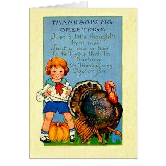 Girl Turkey Greeting Cards