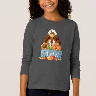 Girl Turkey Thanksgiving Holiday t-shirt