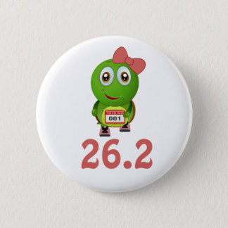 Girl Turtle 26.2 (marathon) 6 Cm Round Badge