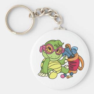Girl Turtle Golfer Key Chains
