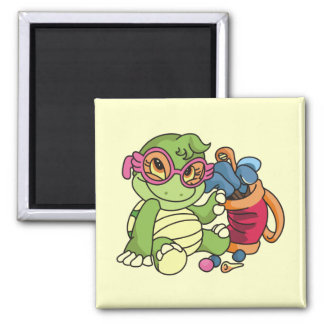 Girl Turtle Golfer Tshirts and Gifts Magnet