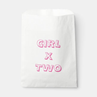 Girl Twins Baby Shower Favour Bags