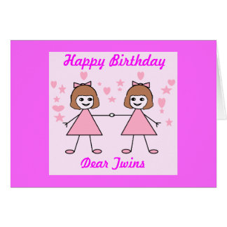 twins birthday cards  invitations  zazzle.co.uk, Birthday card