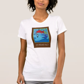 """Girl Under a Red Blue Sky"" (BROWN) by Zermeno T Shirt"