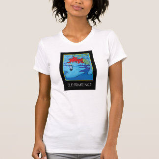 """Girl Under a Red Blue Sky"" by Zermeno T Shirts"