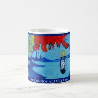 """Girl Under A Red Blue Sky"" Wrap Around Classic White Coffee Mug"
