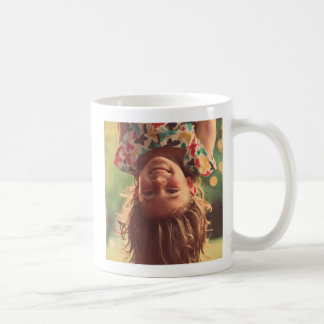 Girl Upside Down Smiling Child Kids Play Coffee Mug