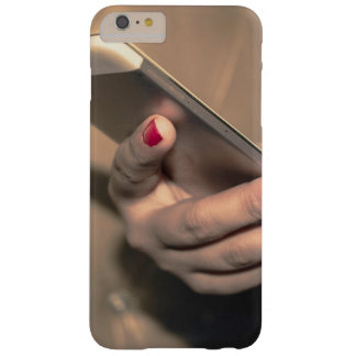 Girl using phone cover