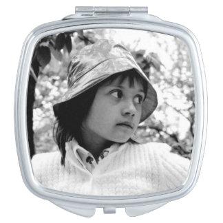 Girl Vintage 70ties Makeup Mirror