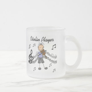 Girl Violin Player Tshirts and Gifts Frosted Glass Coffee Mug