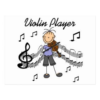 Girl Violin Player Tshirts and Gifts Postcard
