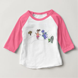 Girl Walking Dragon to the Party Tee Shirts