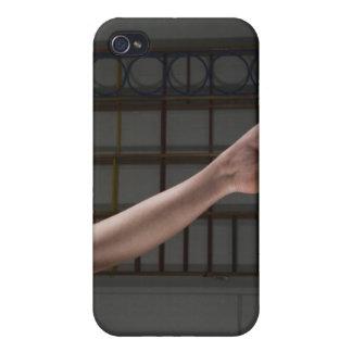 Girl walking on balance beam iPhone 4/4S cases