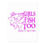 GIRL WALLEYE FISHING POST CARDS