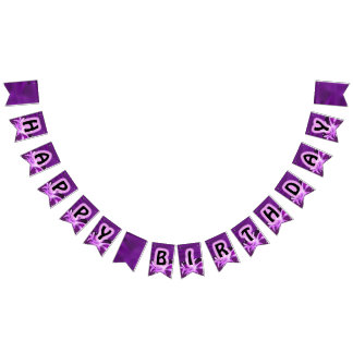 Girl Whale Birthday Party Bunting Banner