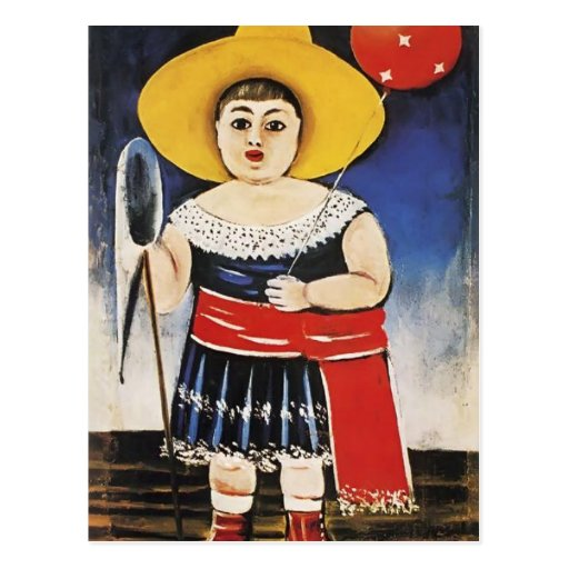 Girl with a Baloon by Niko Pirosmani Post Cards