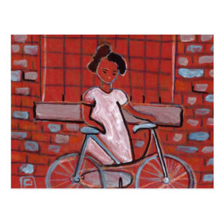 GIRL WITH A BIKE POSTCARD