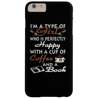 Girl with a cup of coffee and a book barely there iPhone 6 plus case