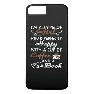 Girl with a cup of coffee and a book iPhone 7 plus case