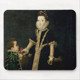 Girl with a dwarf, thought to be a portrait mouse mat