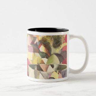 Girl with a Fish Bowl, 20th century Two-Tone Coffee Mug
