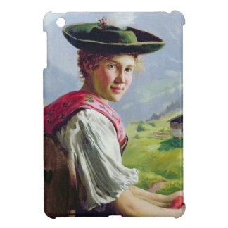 Girl with a Hat in Mountain Landscape iPad Mini Case