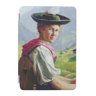 Girl with a Hat in Mountain Landscape iPad Mini Cover