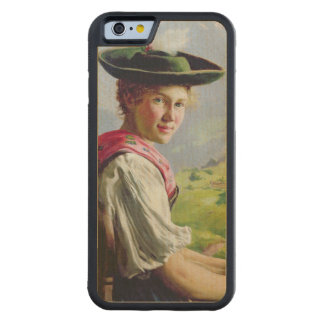 Girl with a Hat in Mountain Landscape Maple iPhone 6 Bumper Case