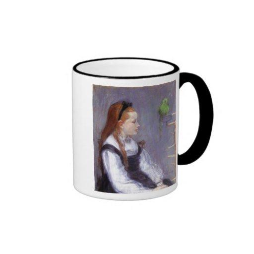 Girl with a Parakeet Mug