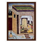 Girl With A Parrot By Indischer Maler Um 1580 (Bes Postcard