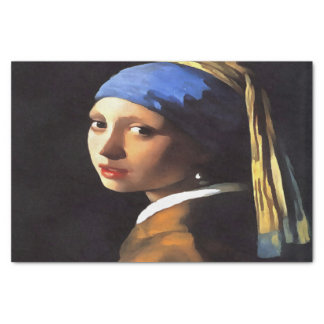 Girl with a Pearl Earring After Johannes Vermeer Tissue Paper