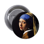 Girl with a Pearl Earring Button