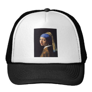 Girl with a pearl earring. By Johannes Vermeer Trucker Hat