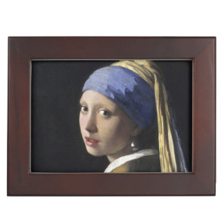 Girl with a Pearl Earring by Johannes Vermeer Keepsake Box