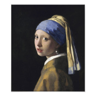 Girl with a Pearl Earring by Johannes Vermeer Photograph