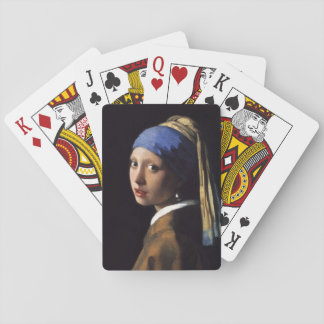 Girl With A Pearl Earring by Johannes Vermeer Playing Cards