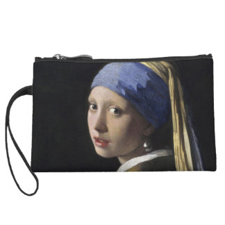 Girl with a Pearl Earring by Johannes Vermeer Wristlet Clutch