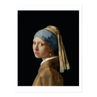 Girl with a Pearl Earring, c.1665-6 (oil on canvas Postcard