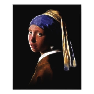 Girl with a Pearl Earring Digital Painting Vermeer Personalized Flyer