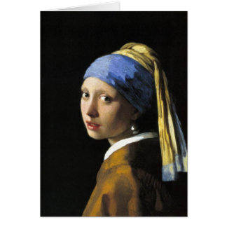 Girl With a Pearl Earring Greeting Cards