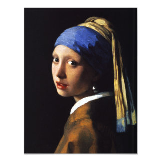Girl with a Pearl Earring Invitations