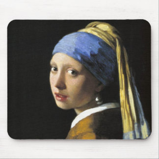 Girl With a Pearl Earring Mouse Pads
