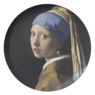 Girl with a Pearl Earring Party Plates