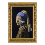 Girl with a Pearl Earring - self shot Posters