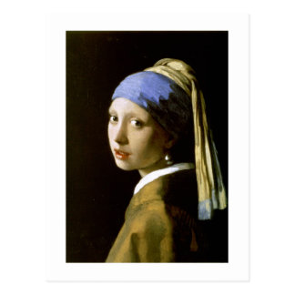 Girl with a Pearl Earring Vermeer Fine Art Postcard