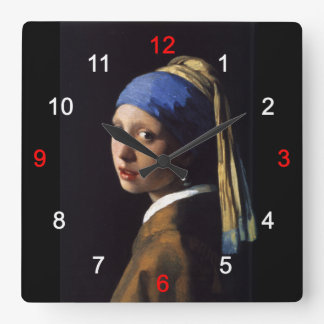 Girl with a Pearl Earring Wall Clocks