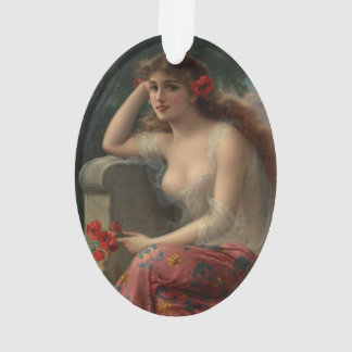 Girl with a Poppy by Emile Vernon